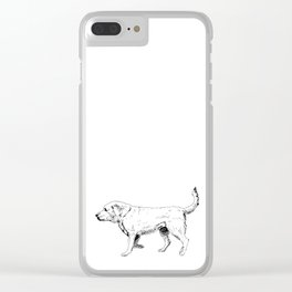 Labrador Retriever Ink Drawing Clear iPhone Case