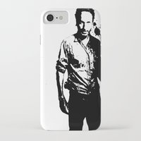 rick grimes iPhone & iPod Cases featuring Rick Grimes by Black And White Store