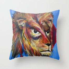Portrait of a Lion Throw Pillow