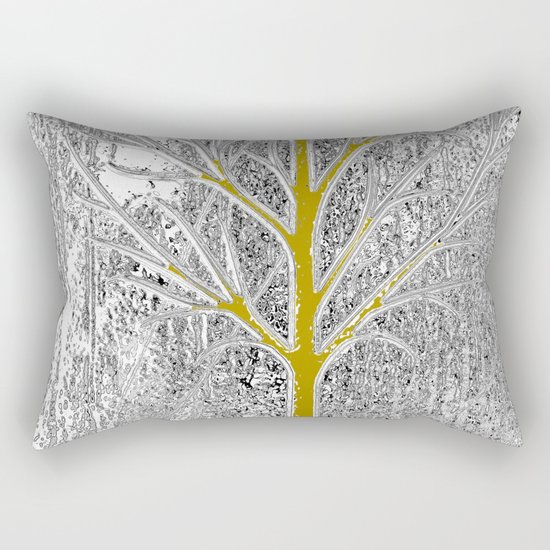 Let it snow! Tree in a beautiful winter snowy day Rectangular Pillow