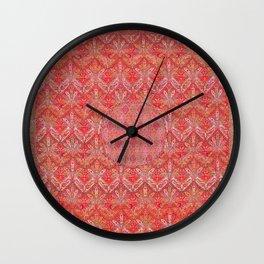 Kashmir North Indian Moon Shawl Print Wall Clock
