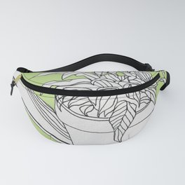 Drawing Peace Lily (Spring Color) Fanny Pack