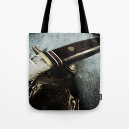 Old Hunting Knife Tote Bag