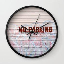 No Parking - Street Graffiti Photograph Wall Clock