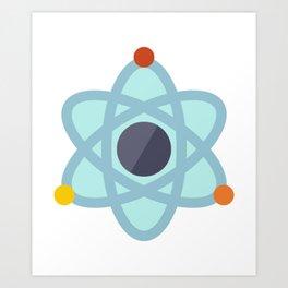 Atom Icon Art Print