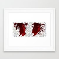 studio killers Framed Art Prints featuring Cute Killers by Laedde
