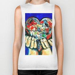 painted heart Biker Tank