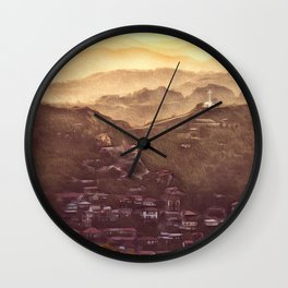 Sunset in Cyprus Wall Clock
