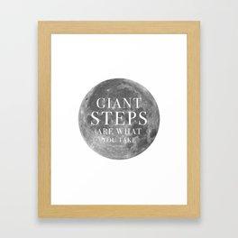 Giant steps | W&L004 Framed Art Print