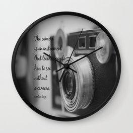 Vintage Camera Quote Wall Clock