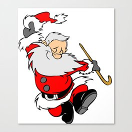 Dancing Santa Canvas Print