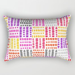 bright pattern of pink, yelow and purpe no 4 Rectangular Pillow