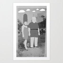 Mommy and Me (black & white) Art Print