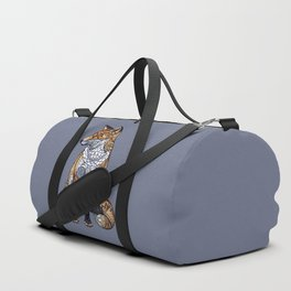 Stained Glass Fox Duffle Bag