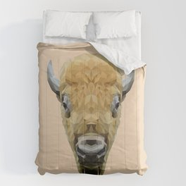 Bison low poly. Comforters