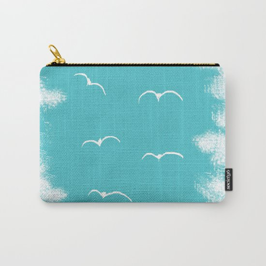 Seabirds and Clouds Carry-All Pouch