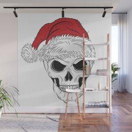 Christmas Skull Wall Mural