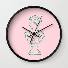 Elegant Greek Statue Wall Clock