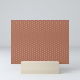 Sherwin Williams Cavern Clay SW7701 Double Scallop Wave Pattern Mini Art Print