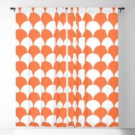 Fan Pattern 321 Orange Blackout Curtain
