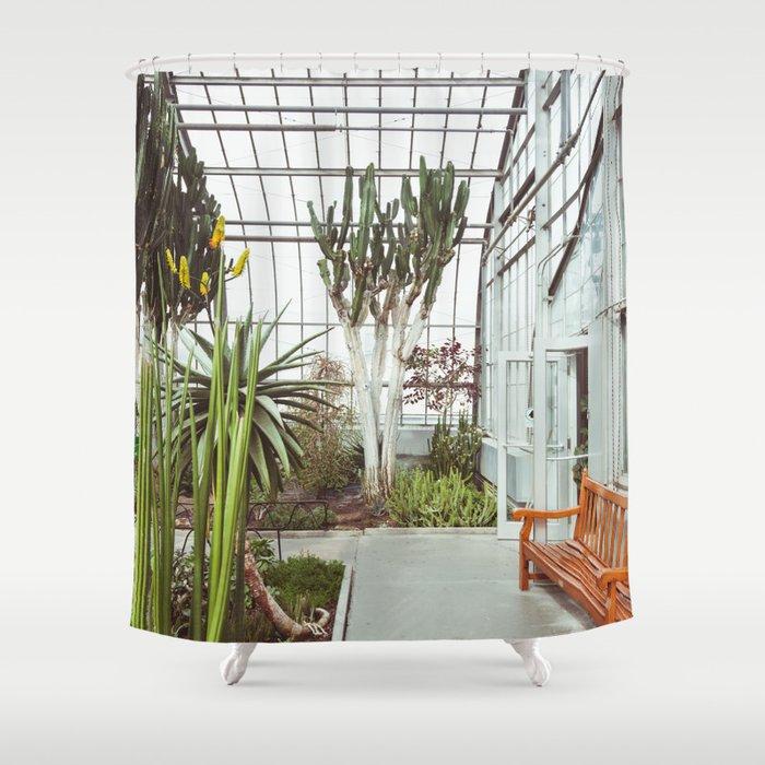 Cactus Mood Boho Organic Texture Shower Curtain