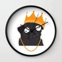 notorious Wall Clocks featuring Notorious P.U.G by Puglic Enemy