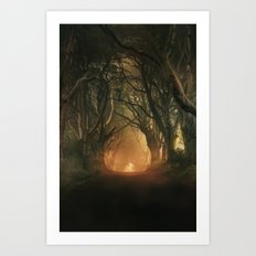 When the day begins... Art Print