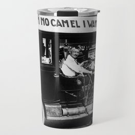 Vintage I'm No Camel - We Want Beer - Repeal Prohibition black and white photograph / photographs  Travel Mug