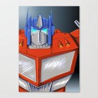 optimus prime Canvas Prints featuring Optimus Prime by Mercedes