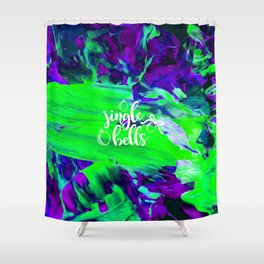 Abstract Jingle Bells Shower Curtain