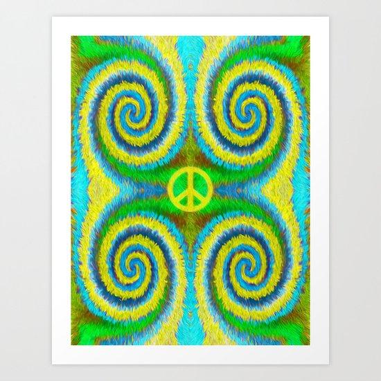 Peace Koru Art Print