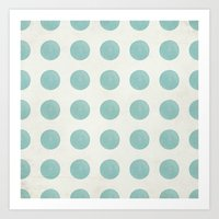 polka dots Art Prints featuring Polka Dots by Juste Pixx Designs