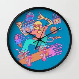 Skull Skater Wall Clock