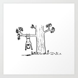 Climbing Trees Art Print