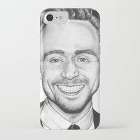 tom hiddleston iPhone & iPod Cases featuring Tom Hiddleston by Angie Siketa