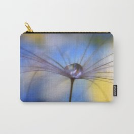 Cool Water A droplet on a Dandelion Seed Parachute Carry-All Pouch