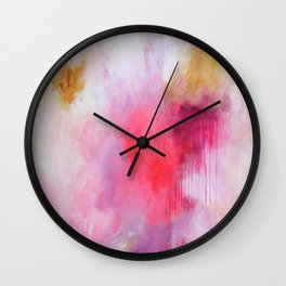 Blush Song #1 Original Painting by Rachael Rice Wall Clock