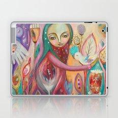 Life is sacred - inspirational art Laptop & iPad Skin