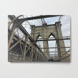 Brooklyn Bridge New York Metal Print