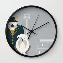 Mr. Mustachio Wall Clock