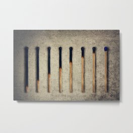 burnt matches stairsteps Metal Print