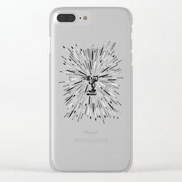 Art Power Tools Drill Bit Set Doodle Clear iPhone Case