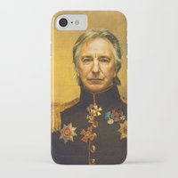 actor iPhone & iPod Cases featuring Alan Rickman - replaceface by replaceface