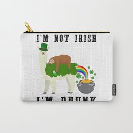 St Patricks Day Llama Sloth Irish Drinking Team Gift Carry-All Pouch