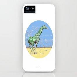 Girafe printemps iPhone Case