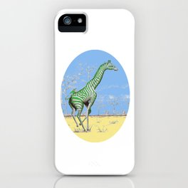 Girafe printemps iPhone Case