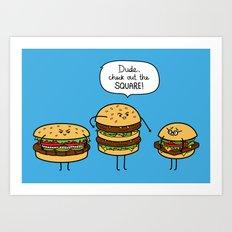 Burger Bullies Art Print