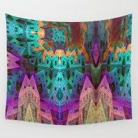 escher Wall Tapestries featuring Eschertown by NatalieCatLee