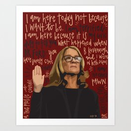 Dr. Christine Blasey Ford. Art Print