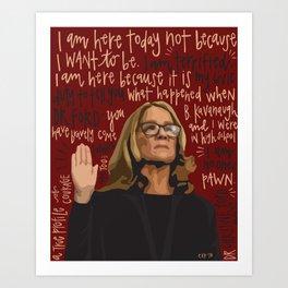 Dr. Christine Blasey Ford. Art Print
